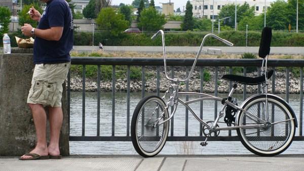 Bike on the east bank river walk, Portland, Oregon by neilfein