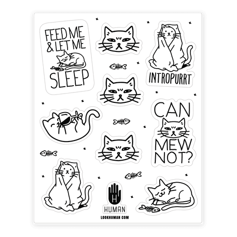 Sassy Cat Stickers (for home or car)