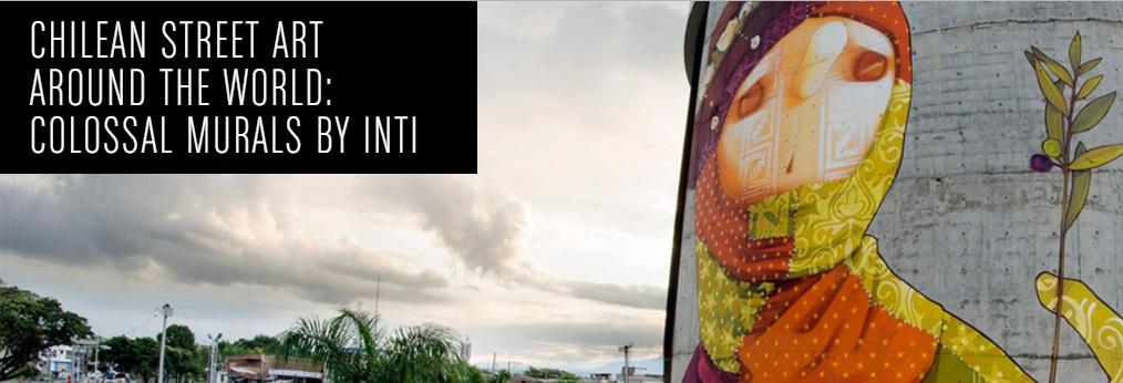 Murals by street artist INTI