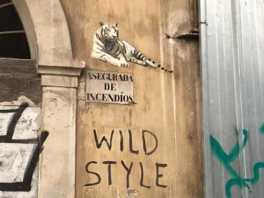 """ESCIF zeigt eine Tiger und darunter steht """"Wild Style"""""""