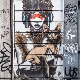 FinDac zeigt eine Frau mit einem Hund oder einer Katze auf dem Arm