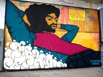 Mural zeigt einen bekannten Musiker