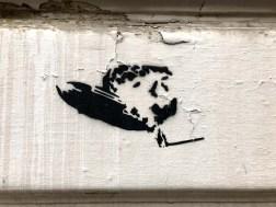 brennender Zeppelin