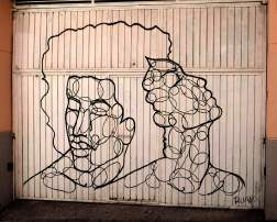 zwei Linienportraits