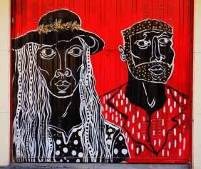 rot und schwarz, ein Paar