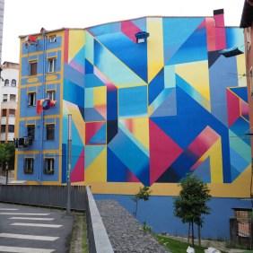 geometrische Formen auf Fassade