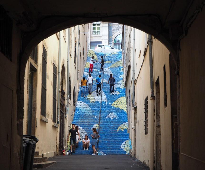 bemalte Treppe