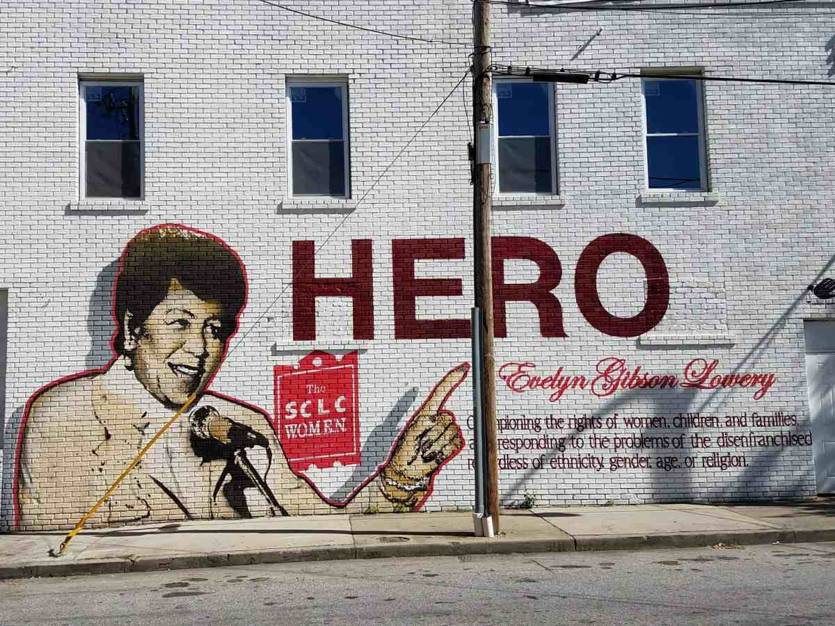 street art featuring Evelyn Lowery