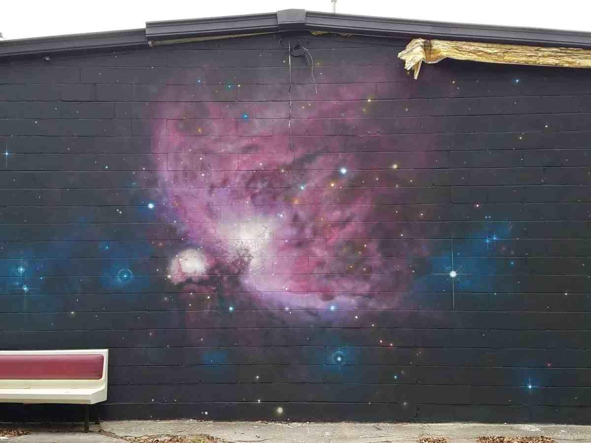 Mural of the Orion Nebula in Old Fourth Ward Atlanta