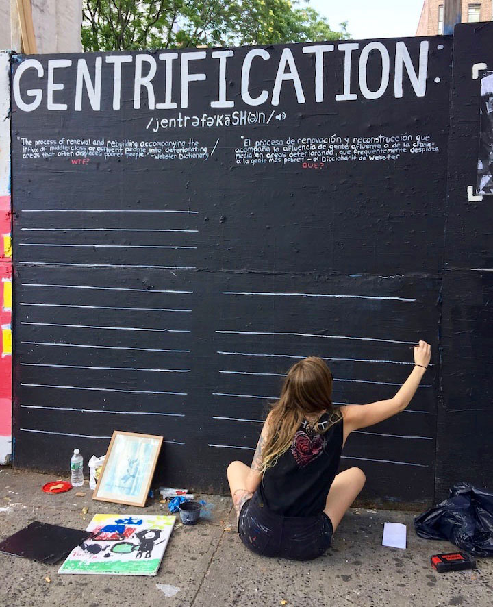kristy mccartney east harlem  Resisting Gentrification, Rezoning and Displacement in East Harlem with The Harlem Art Collective at the Guerrilla Gallery