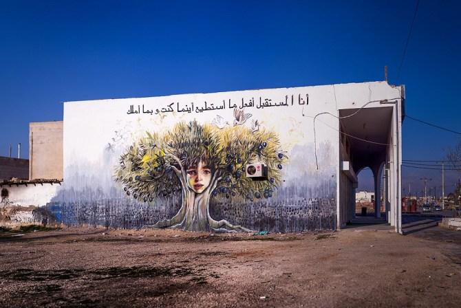 Herakut at Zaatari, Jordan 4