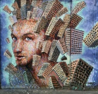 City cubist forms