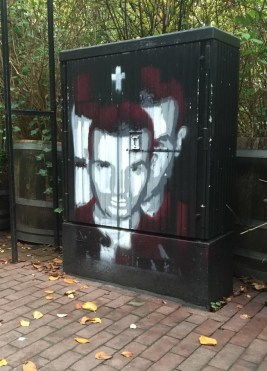 Fragmented stencil of don diablo in Amsterdam