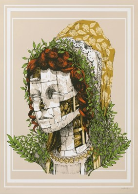 Pixelpancho. Fulvia _ Serigrafia - Silkscreen _ 50 x 70 cm, 2016