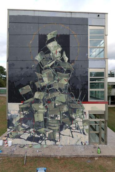 """Sacrum Fieri"" is Borondo's mural in Ordes, Spain"