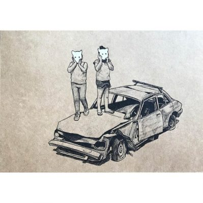 Sobre Peugeot - Pen on kraft paper