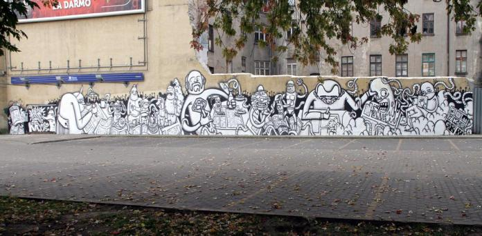 10 Galeria Urban Art Forms in Lodz, Poland. By Krik