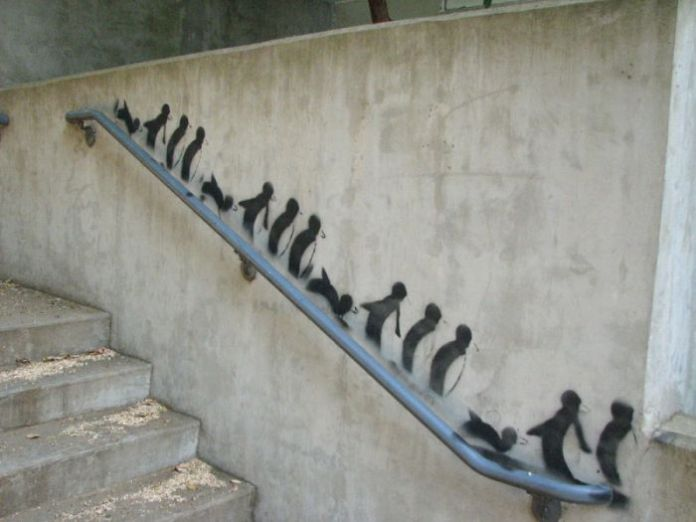 Street Art Penguins