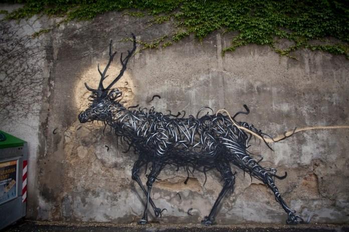 Street Art by DALeast -'一', In Vienna, Austria 2