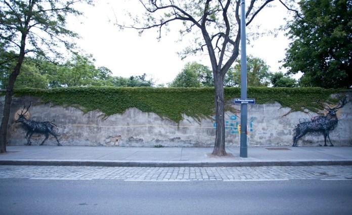 Street Art by DALeast -'一', In Vienna, Austria 3