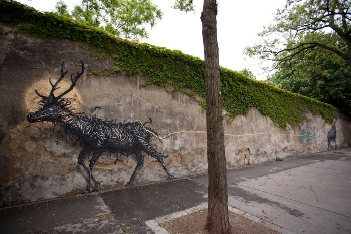 Street Art by DALeast -'一', In Vienna, Austria 4