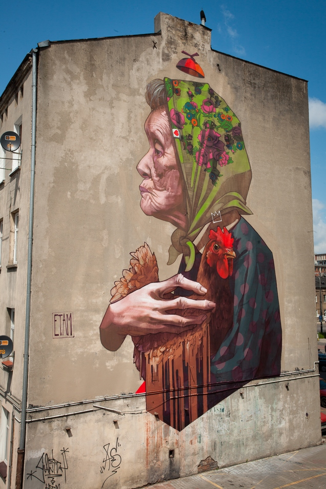 Street Art by ETAM CRU in Lodz, Poland 2