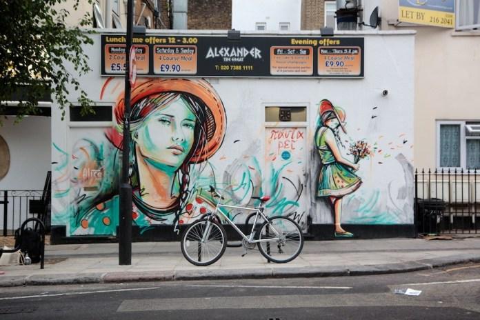 Street Art by Alice Pasquini in Camden, London, UK