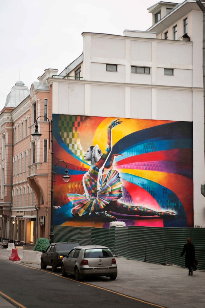 Mural by Kobra in Moscow