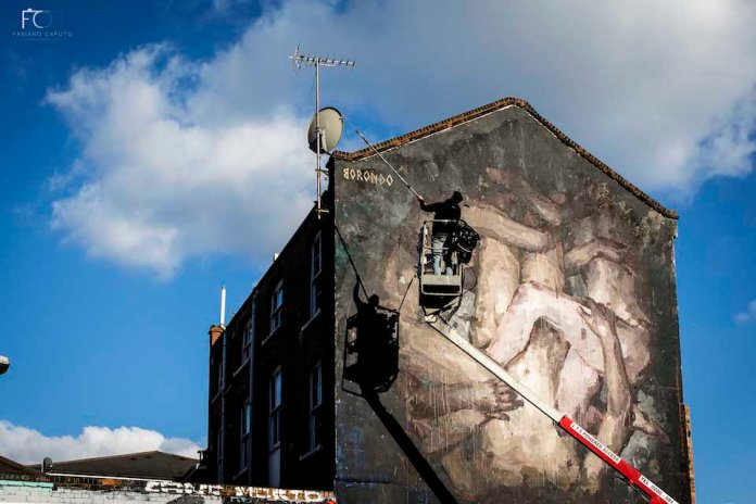 Street Art by Borondo in Shoreditch, East London 10