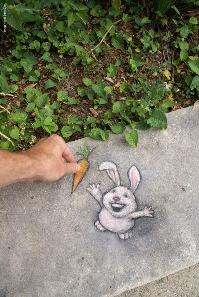 Chalk Art by David Zinn in Michigan, USA