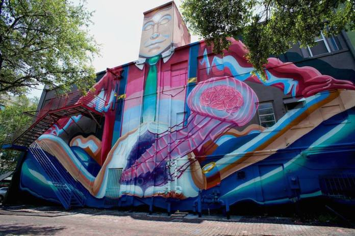 Street Art by Sebastian Coolidge and Derek in Donnelly Downtown St. Petersburg, USA