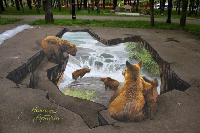 3D Street Art by Nikolaj Arndt 1