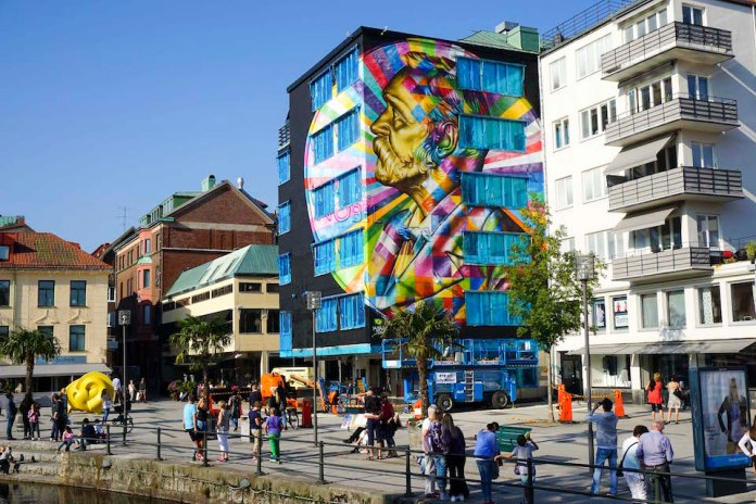 Street Art by Eduardo Kobra in Borås Sweden 3463456