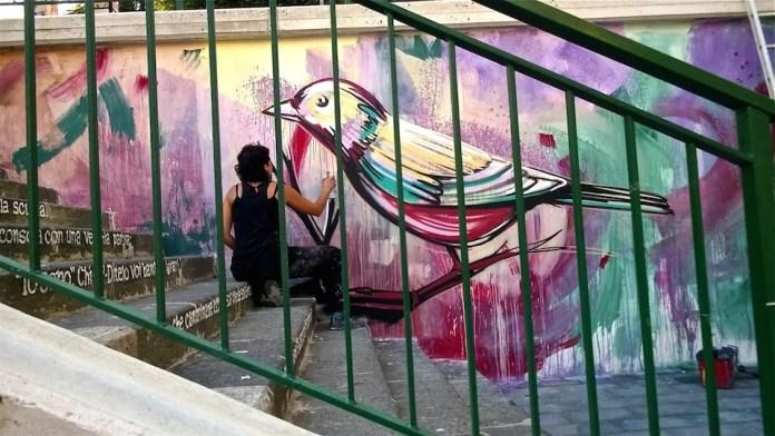 Street Art by Alice Pasquini in Salerno, Italy 4