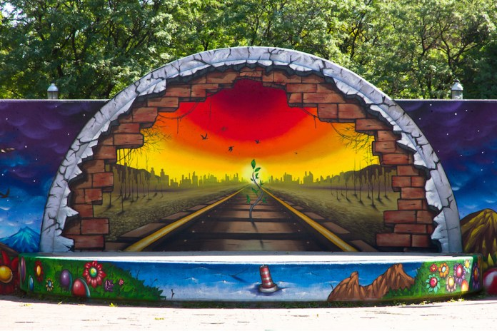 Mural in David Crombie Park, Toronto, ON, Canada 1