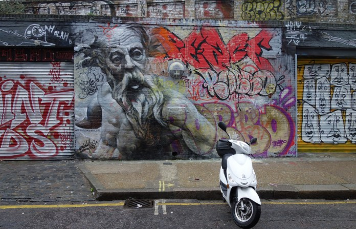 Street Art by PichiAvo in East London, England 2