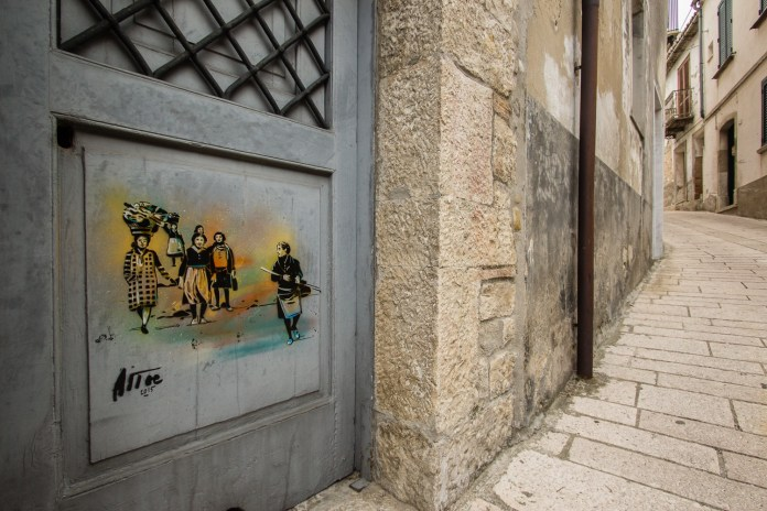 Street Art by Alice Pasquini in Civitacampomarano, Molise, Italy. Photo by Jessica Stewart 6