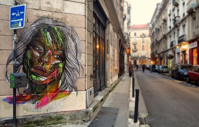 Street Art by Hopare in Grenoble, France 1