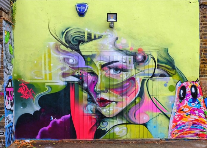 Street Art by Mr Cenz in East London, England 2015 5465