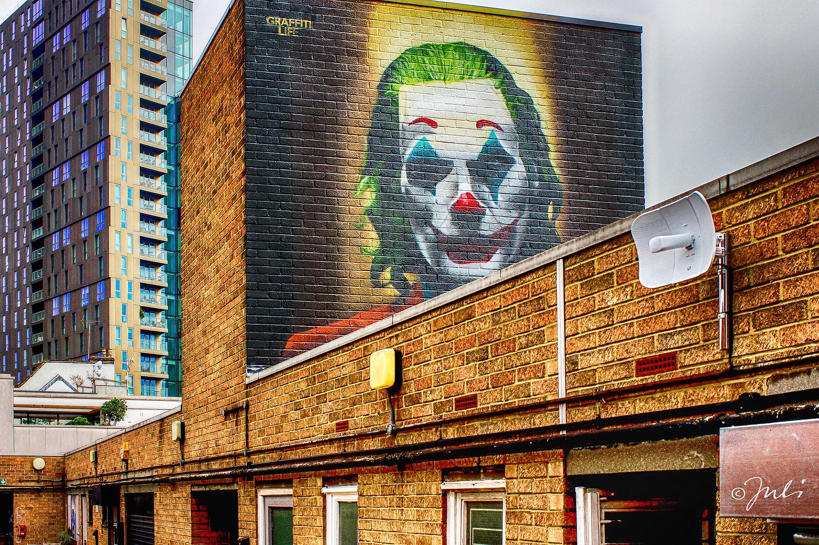 #Joker portrait - #StreetArt by #GRAFFITILIFE in #London, #England