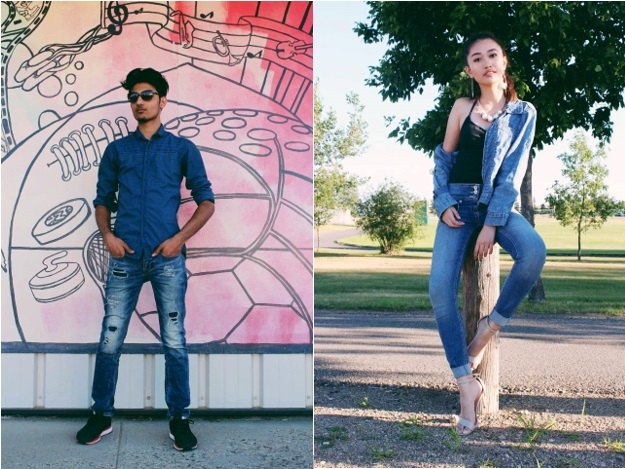 Denim on the street in Saskatchewan