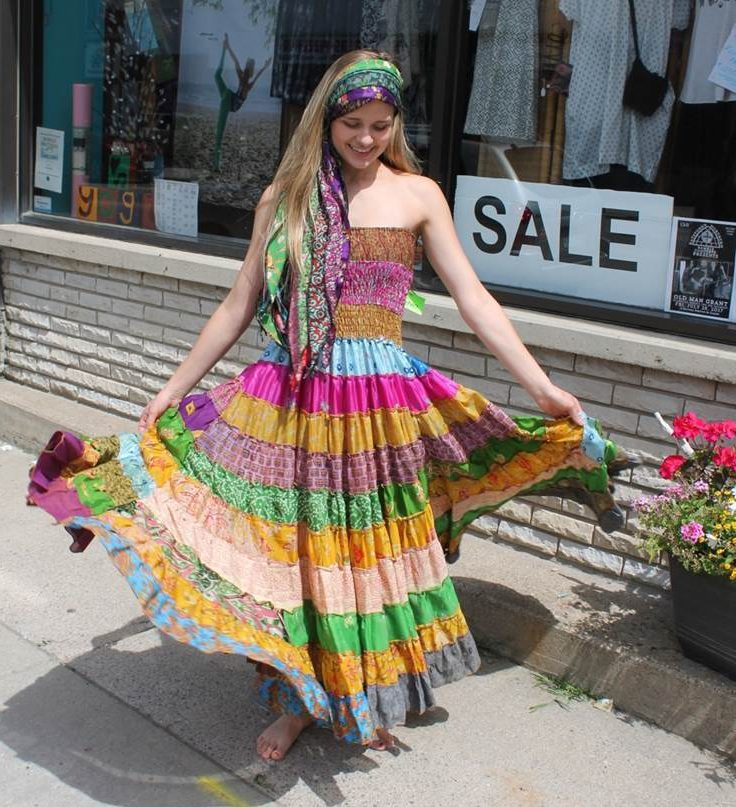 rainbow dress - yoga studio in Renfrew