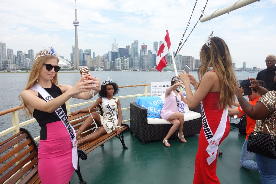cruising toronto harbour in fashion - streetchic on Miss World Canada boat cruise