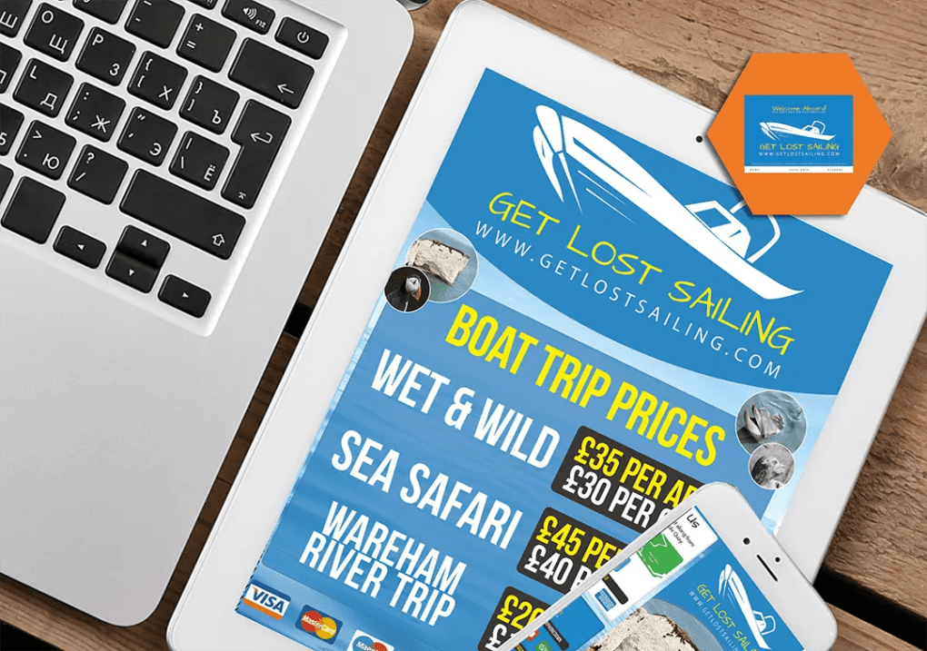 Get lost sailing branding, flyer, poster and graphic design project