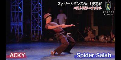 STREET KINGS vol.2 in大阪 ベスト16|ACKY vs Spider Salah|ストリートダンス世界一決定戦|AbemaSPECIAL【AbemaTV】