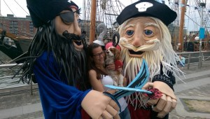 Pirate themed entertainers, walkabout puppets, maritime themed entertainers