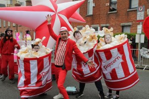 Popcorn costumes, Sweet themed entertainers, street performers