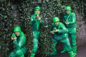 Toy soldier costumes, bespoke entertainers