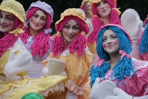 Rag Doll costumes, bespoke entertainers