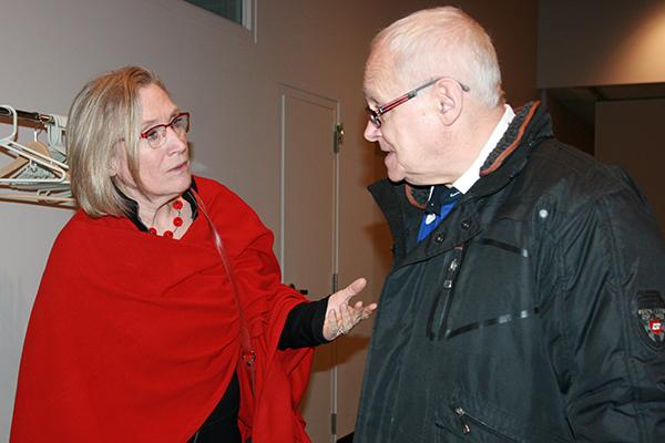 Carolyn Bennett with Dan Buckley